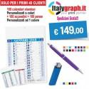 100 calendari+100 accendini+100 penne